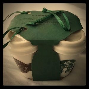 Set of 4 Starbucks Vintage Cup Ornaments brand new